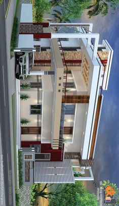Modern Bungalow House Design, Modern Exterior House Designs, Duplex House Design, Unique House Design, House Front Design, Indian House Plans, My House Plans, Modern House Plans, 10 Marla House Plan