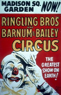 Vintage Ringling Bros and Barnum & Bailey - Madison Square Garden - Circus Poster