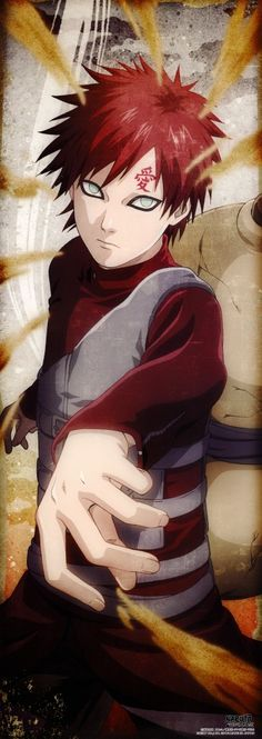 "Gaara is more than a sexy Kazekage. I don't include myself as one of his fangirls, because I don't just love him because he's mysterious and all sexy and dark and whatever. I love him because he displays real strength; the ability to start anew. That's why I think I'm more suited to him than you ""fangirls"" *snooty pout*"