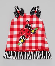 Another great find on #zulily! Red Ladybug Swing Dress - Infant, Toddler & Girls by Youngland #zulilyfinds