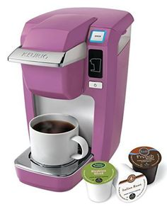 Keurig Mini Plus Single Serve Coffee Brewing System, Hot Pink-Mauve Single Cup Coffee Maker, Best Coffee Maker, Single Serve Coffee, Keurig Mini, Graduation Gifts For Her, College Graduation, Coffee Accessories, Espresso Maker, Coffee Brewer