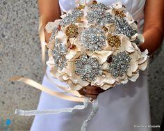 Champagne Hydrangea Bridal Bouquet