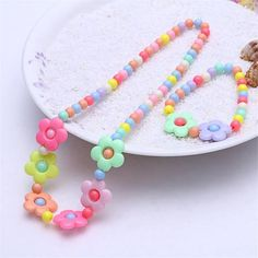 7 Colors Girls Children Jewelry Sets Cute Flower Necklaces With Charm Bracelets Beads Necklaces Sets. Product ID: Kawaii Jewelry, Baby Jewelry, Kids Jewelry, Tiffany Jewelry, Charm Jewelry, Jewelry Sets, Beaded Jewelry, Beaded Necklace, Handmade Jewelry