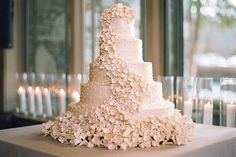 Totally Over-the-Top Cake Wedding Cakes from Real Weddings