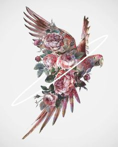 Flowery Birds Illustrations – Fubiz Media