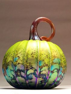 Jack Pine Hand Blown Glass Pumpkin Medium-Large by jackpinestudios
