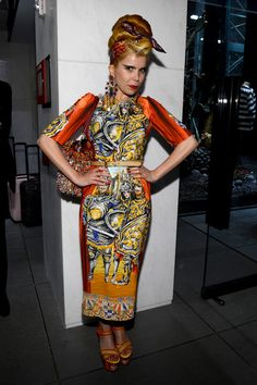 Paloma Faith Print Dress - Paloma Faith showed off her love of bold patterns with this knight-in-shining armor-print dress.