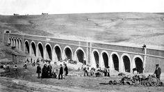 1856 - Acueducto de Amaniel. Foto de Charles Clifford.