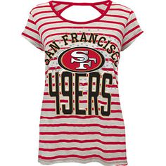 NFL Juniors San Francisco 49ers Short Sleeve Bow Back T Shirt