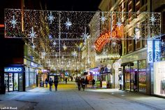 Oslo city center at Christmas time