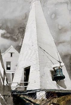 Andrew Wyeth (1917 — 2009, USA) The Fog Bell. 1978 watercolor on paper. 28 x 19 in.