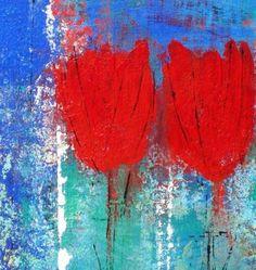 Happygarden, schilderij van Rosita de Vree   Abstract   Modern   Kunst