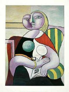 Picasso, Pablo : La Lecture (Woman Reading)