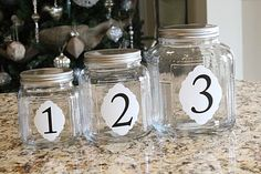 I would put different labels on these jars, but they are such an easy project and I would love to have them in my kitchen with maybe some snacks or goodies in them!!!