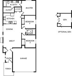 The Canyon by Hayden Homes - Floor Plan - The Canyon makes every bit of its 1201 square feet count, offering great comfort in a modestly sized single level plan.