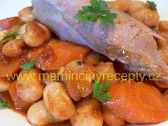 Krůtí stehna s fazolemi – Maminčiny recepty Sausage, Meat, Food, Sausages, Essen, Meals, Yemek, Eten, Chinese Sausage
