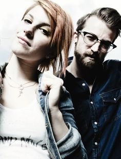 Hayley Williams and Jeremy Davis