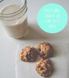 urban nester: black & white chocolate chip peanut butter cookies; gluten free