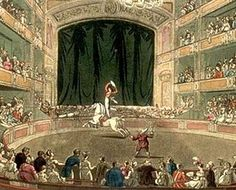 (Philip) Astley's Ampitheatre in London as drawn by Thomas Rowlandson and Augustus Pugin for Ackermann's Microcosm of London (1808-11)