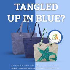 Blue is the colour of the season. It is one of the most common colors found in the wardrobe of people in general because everyone loves blue. But we get enough of it. Get inspired for your next fashion bags collection. Design your products with Richie Bags.   Visit Us: www.richiebags.com Email us: info@richiebags.com  #CottonBags #BeachBags #EcoBags #FashionBags Promotional Bags, Next Fashion, Beach Bags, Love Blue, Cotton Bag, Design Development, Fashion Bags, Nautical, Colour