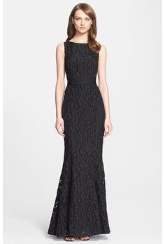 Brides.com: . Cheetah fil coupé mermaid gown, $1,895, St. John Collection available at Nordstrom