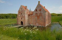 Spøttrup Castle, Denmark. It is Denmark's best preserved medieval castle.