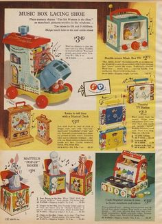 Fisher Price, Sears 1964; had several of these toys.