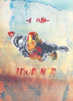 """""""I am Iron Man.""""  Fan art by mirand-ah."""