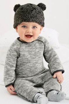 Buy Grey Textured Romper (0mths-2yrs) online today at Next: United States of America