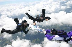 Extreme Ironing sky diving!