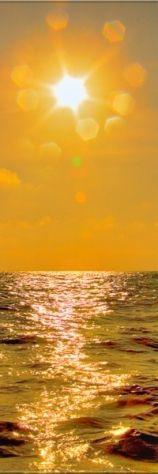 Gold sunset into gold waves. beach/ocean/love