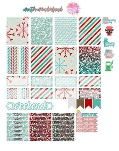 I'll admit that making this one has been my first time making my own, and it is a lot harder and tedious than it looks, but for the new year, once i've got my Free Planner, Planner Pages, Happy Planner, Planner Ideas, Printable Planner Stickers, Free Printables, Printable Labels, Planner Organization, Planners
