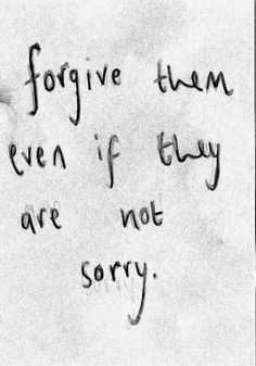 For he has forgiven us,it's not between you and them anyway.