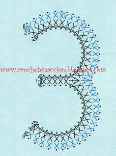 Letras y números CROCHET | Aprender manualidades es facilisimo.com Basic Crochet Stitches, Tunisian Crochet, Crochet Chart, Crochet Squares, Easy Crochet Patterns, Crochet Motif, Crochet Home, Love Crochet, Crochet Gifts