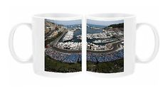 Photo Mug featuring View over the first practice session at the Monaco street…