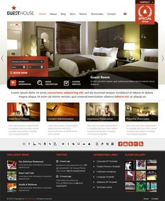 professional hostel and guest house style premium WordPress theme at ThemeForest