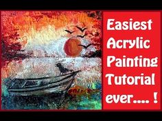 EASIEST Acrylic painting STEP BY STEP TUTORIAL + PAINTING INSPIRATION TA...