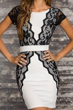 Elegant Cocktail Mini Dress-GORGEOUS!