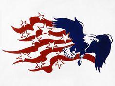 American Flag Eagle  Metal Wall Art by SunsetMetalworks on Etsy