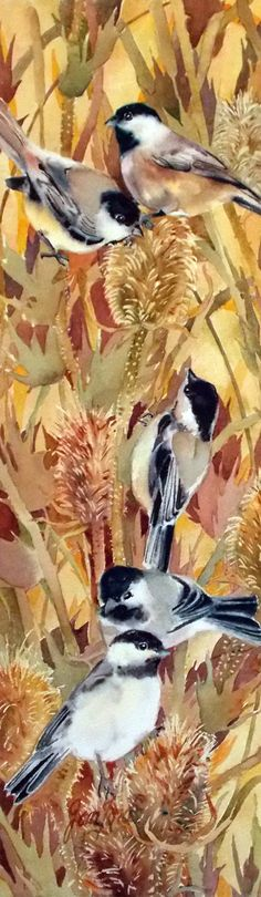 Jan Ford ~ Chickadees And Thistle