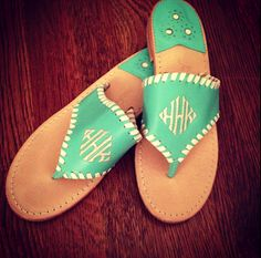The Pink and Green Prep: Monogram Mania: Jack Rogers