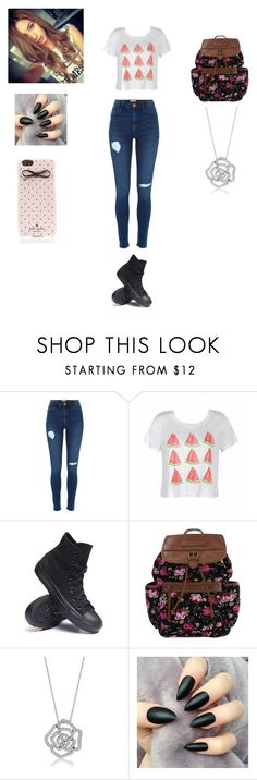 """""""Untitled #180"""" by katelynrodriguez845 ❤ liked on Polyvore featuring Ally Fashion, Converse, BERRICLE and Kate Spade"""
