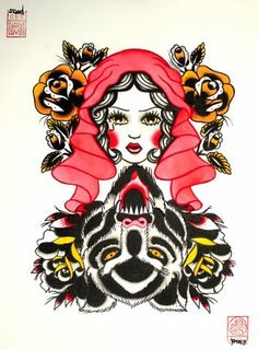 little red riding hood tattoos