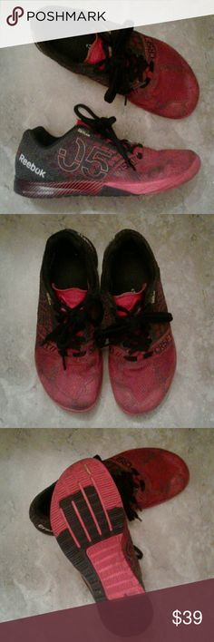 Reebok Cross fit Shoes Reebok CR5FT Cross Fit Shoes or Sneakers red and black and in very good preowned condition these are listed as male/female so would also be suitable for a woman around size 10 give or take a half size Reebok Shoes Sneakers