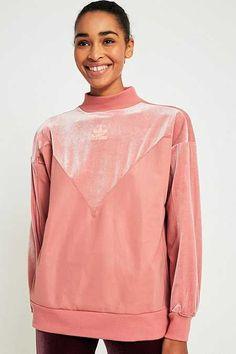 adidas Originals Pink Velvet Boyfriend Sweatshirt