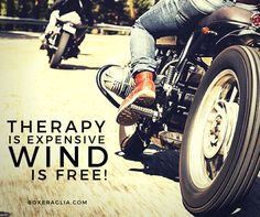 THERAPY IS EXEPENSIVE... WIND IS FREE!  boxeraglia.com #moto #bmw #motorcycle…