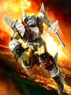 Aerialbots Leader Silverbolt G1 Artwork From Transformers Legends Game