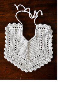 Baby Bib Crochet Heirloom Baby Dribble Bib Crochet Baby Feeder