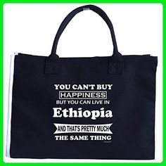 Cant Buy Happiness But You Can Live In Ethiopia, Funny - Tote Bag - Top handle bags (*Amazon Partner-Link)