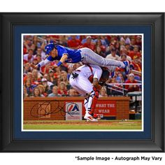 "Chris Coghlan Toronto Blue Jays Fanatics Authentic Framed Autographed 16"" x 20"" Jumping Over Molina Photograph"